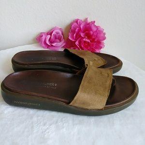 Donald J. Pliner Gold Brown Sandals